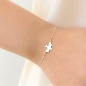 Jewelry - Gold Filled Dainty Bird Bracelet